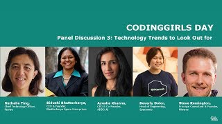 Panel: Coming up next: technology you should Look out for - CodingGirls Day 2017