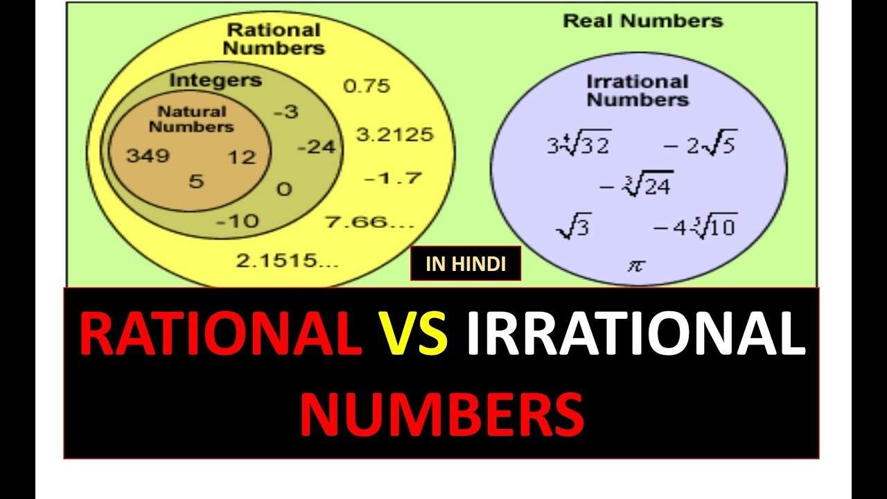 Rational Vs Irrational Numbers In Hindi