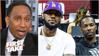 Stephen A. reacts to an anonymous agent throwing shade at Rich Paul & LeBron | First Take