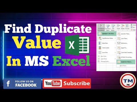 MS Excel Conditional Formatting|Find Duplicate Value in MS Excel
