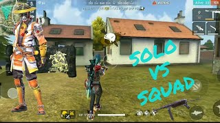 SOLO Vs SQUAD RANKED MATCH GAMEPLAY IN FREE FIRE BATTLEGROUND  BOOYAH||••||