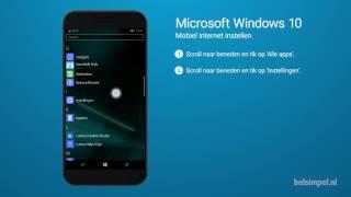 Tips & Tricks - Microsoft smartphone: Mobiel internet instellen (Windows 10)