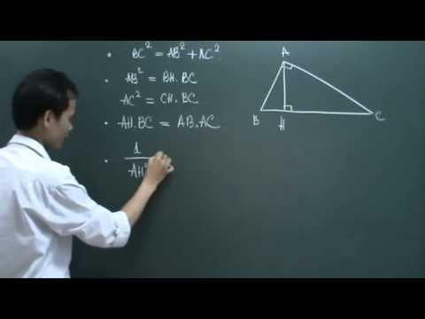 Hệ thức lượng trong tam giác vuông [LT] { clip đi cùng bài toán lớp }