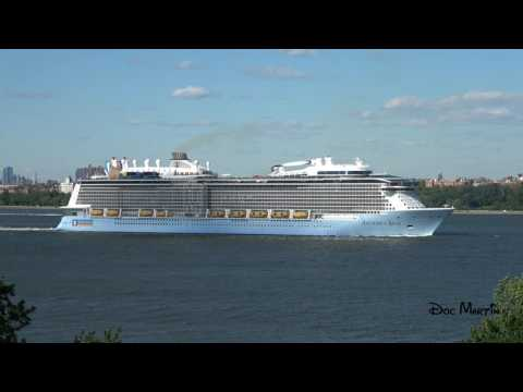 Cruise Ship Anthem Of The Seas Leaving Bayonne,  New Jersey - June 3, 2017 [4K]
