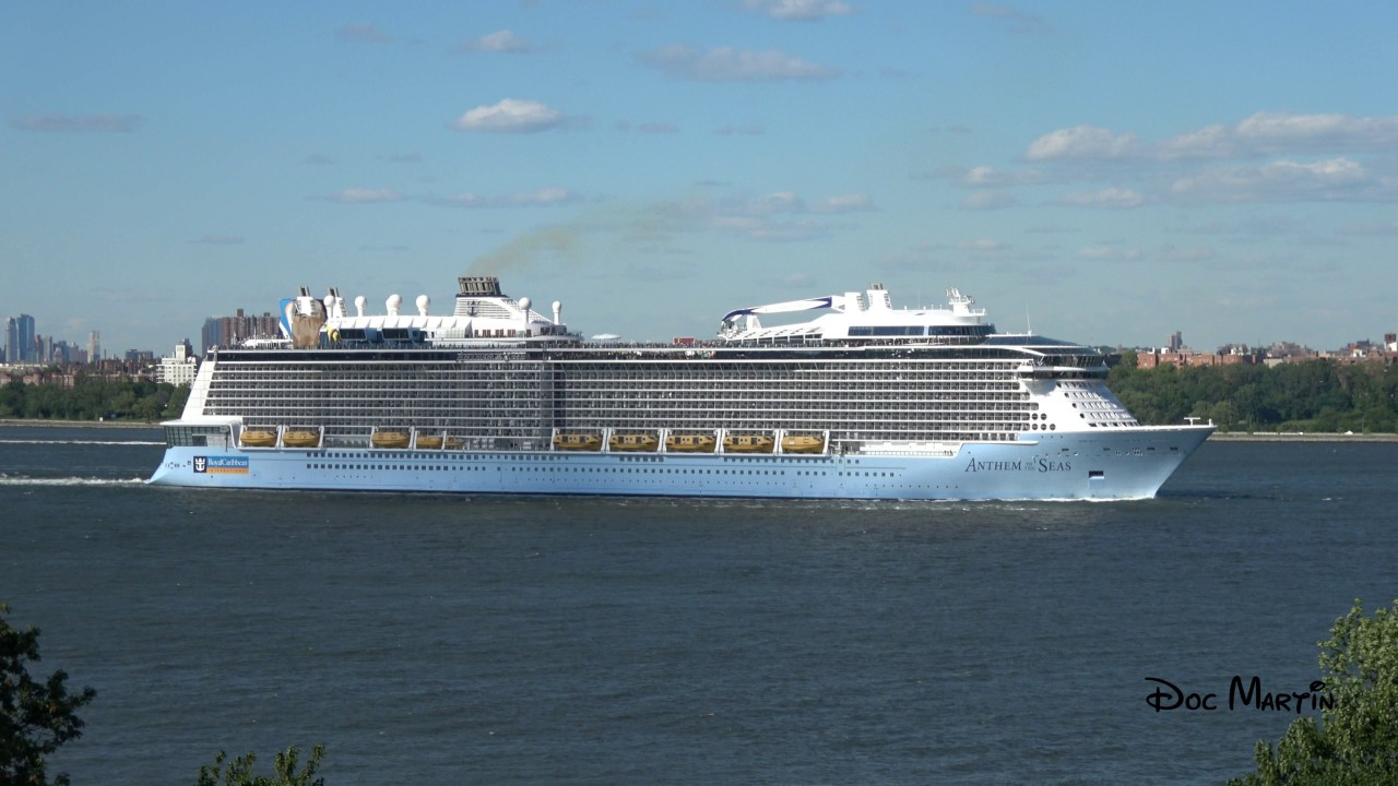 Cruise Ship Anthem Of The Seas Leaving Bayonne New Jersey June - Bayonne cruise ship terminal address