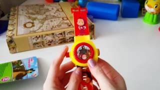 Маша и медведь часы с проектором. Обзор. Подарок.