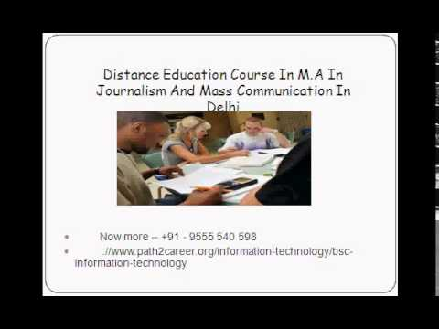 Distance Education Course In M.A In Journalism And Mass Communication In Delhi @8527271018