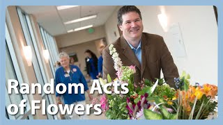 Random Acts Of Flowers Deliver Recycled Flowers To Deserving People