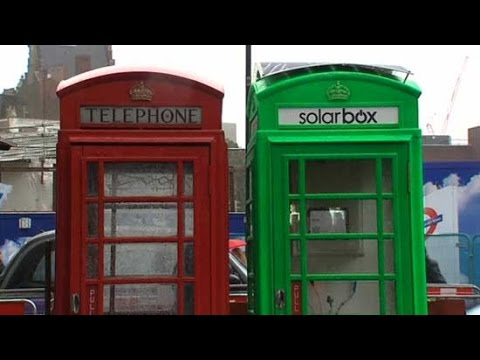 Solarbox converts old London phone boxes into free solar charging stations