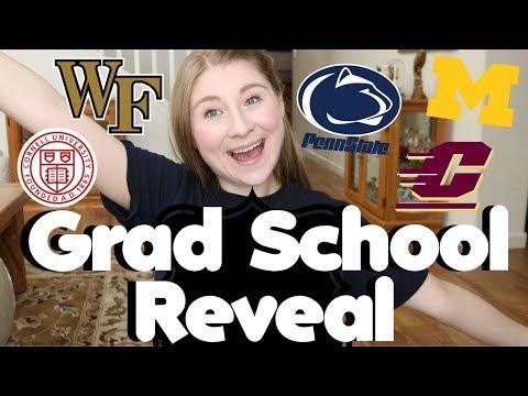 GRADUATE SCHOOL ACCEPTANCE REVEAL! | WHERE I'M GOING TO GRAD SCHOOL