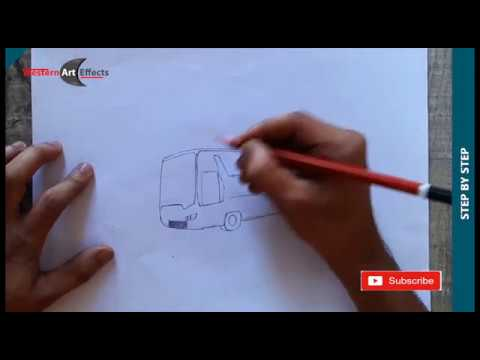 How to Draw and Shade scania bus Drawing with Simple Pencil Strokes for Beginners