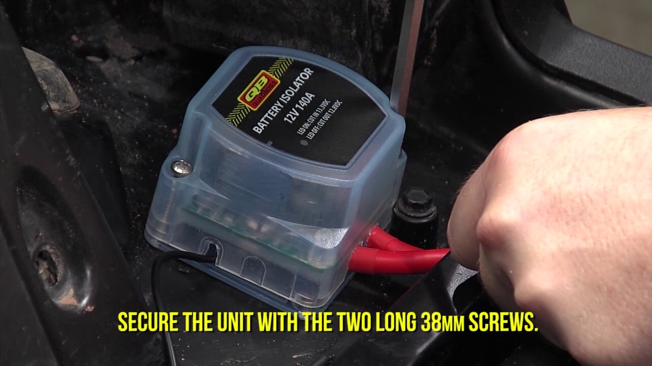 how to | install the battery isolator with wiring kit | quadboss