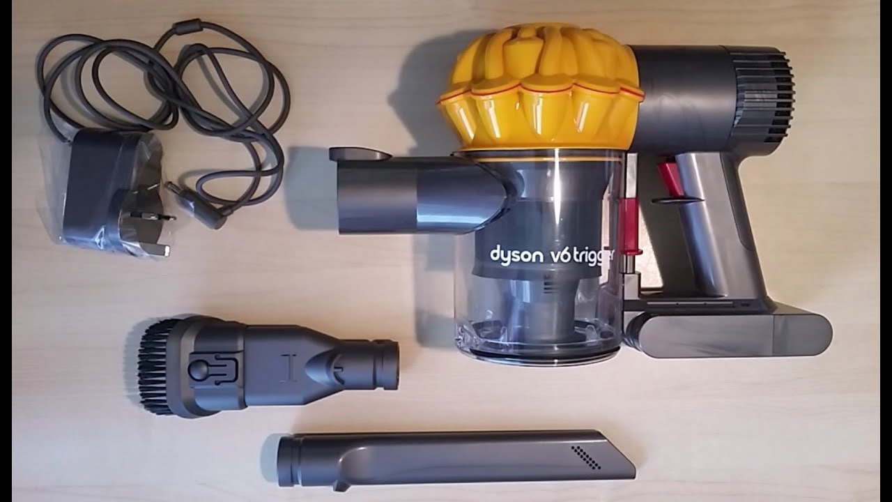 dyson v6 trigger handheld vacuum cleaner review and demo youtube. Black Bedroom Furniture Sets. Home Design Ideas