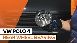 rear and front Wheel bearing kit installation VW POLO: video manual