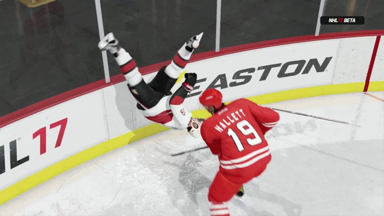 nhl 17 beta best hits and fights youtube