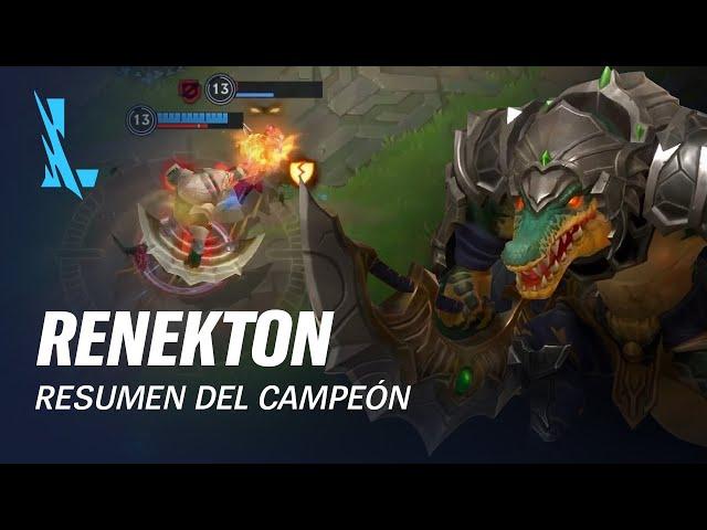 Resumen del campeón: Renekton | Experiencia de juego - League of Legends: Wild Rift