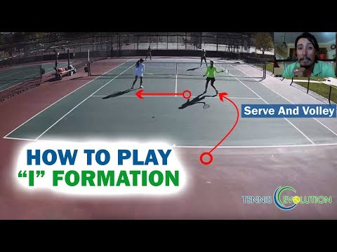 Tennis Doubles Tip:  How To Play I Formation | Online Tennis Lessons
