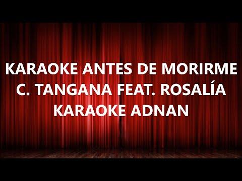 Antes de Morirme [Karaoke] Con Letra – C. TANGANA (feat. Rosalía)