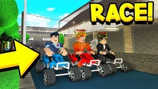 They CHALLENGED Me To GO KART RACE In ROBLOX BLOXBURG!!