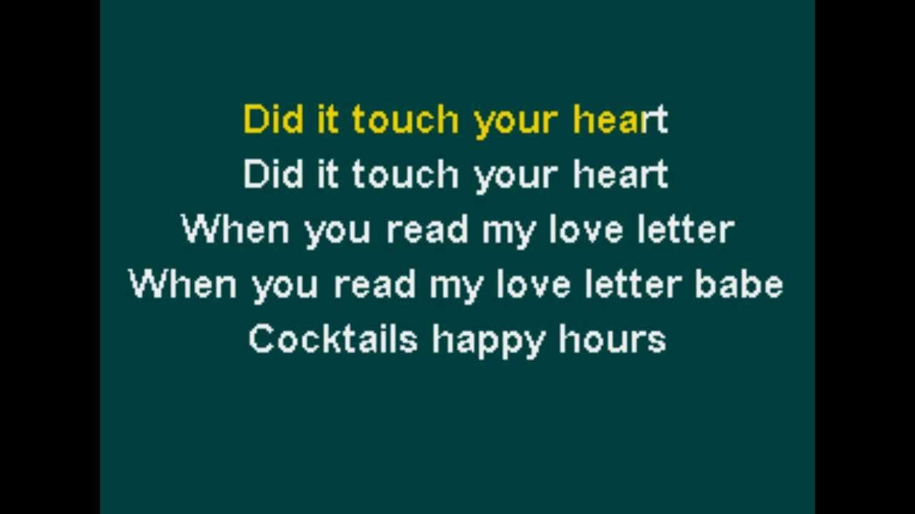 R Kelly Love Letter Karaoke