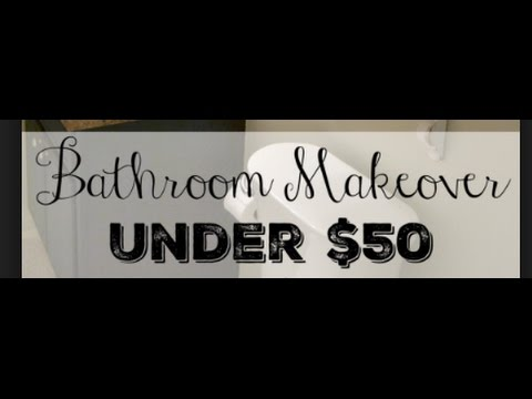 DIY | BATHROOM | MAKEOVER ON A BUDGET - SO CUTE!!!