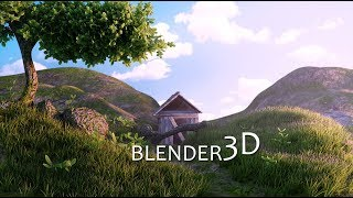 Made this 3d scene and Environment in Blender-Timelapse