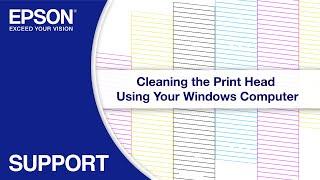 How to clean blocked epson print nozzles videos / InfiniTube