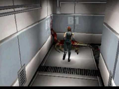 Dino Crisis Gameplay / Walkthrough / Playthrough Part 13 Pipe & Crane Puzzels
