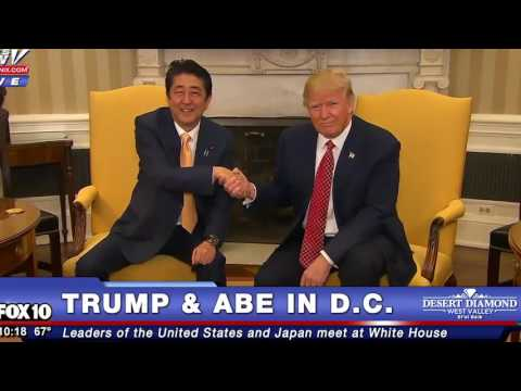 President Trump & Japan's Prime Minister Have Longest Handshake EVER! - The Ring Of Fire