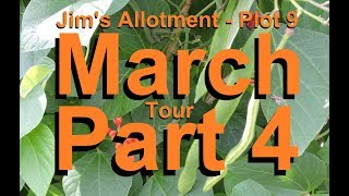 Jim's Allotment - Plot 9 - March Tour Part 4 - Tomatoes, Sweet peas, Spinach and Don Pedro Planta