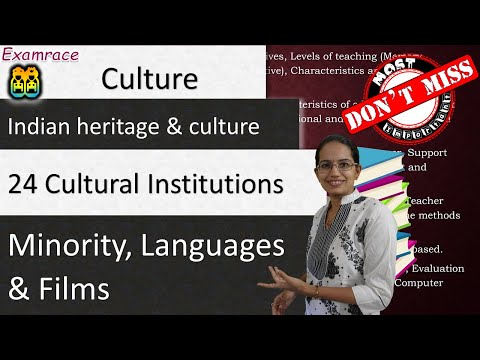 24 Cultural Institutions: Minority, Languages & Films - IAS Mains GS Paper 1