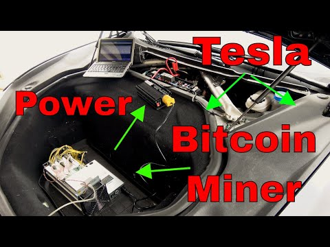 Bitcoin Using Tesla Actual Attempt!  W/ Bitmain Antminer S9