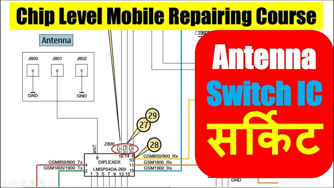Circuit Diagram Of Antenna Switch Mobile Phone Network Section Ic Problem And Solution In Hindi