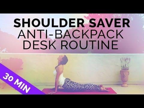 Shoulder Saver Yoga Routine | Anti-Backpack Anti-Desk Workout for Open Shoulders