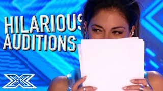 Download JUDGES Can't Stop LAUGHING on The X Factor! | X Factor Global Mp3 and Videos