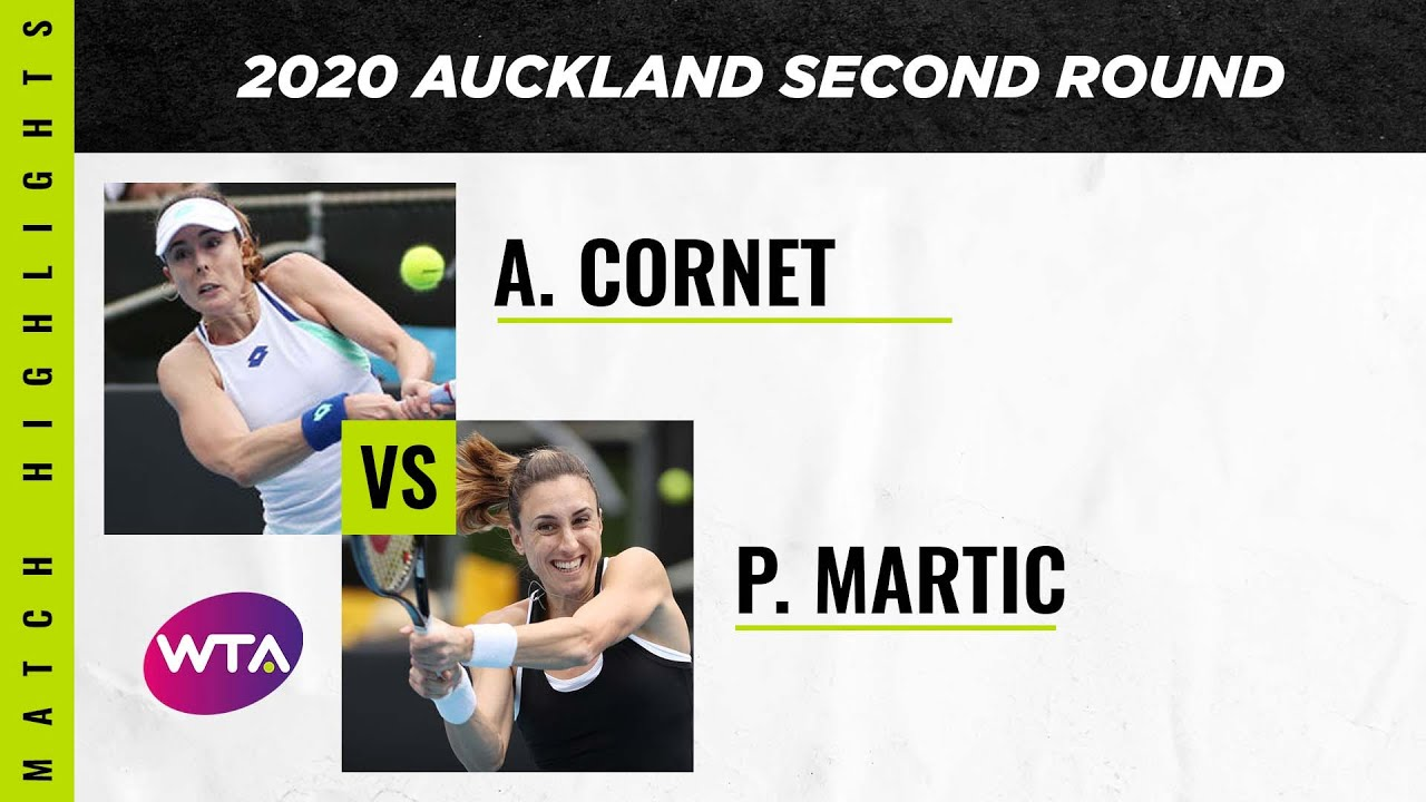 Alizé Cornet vs. Petra Martic | 2020 Auckland Open Second Round | WTA Highlights