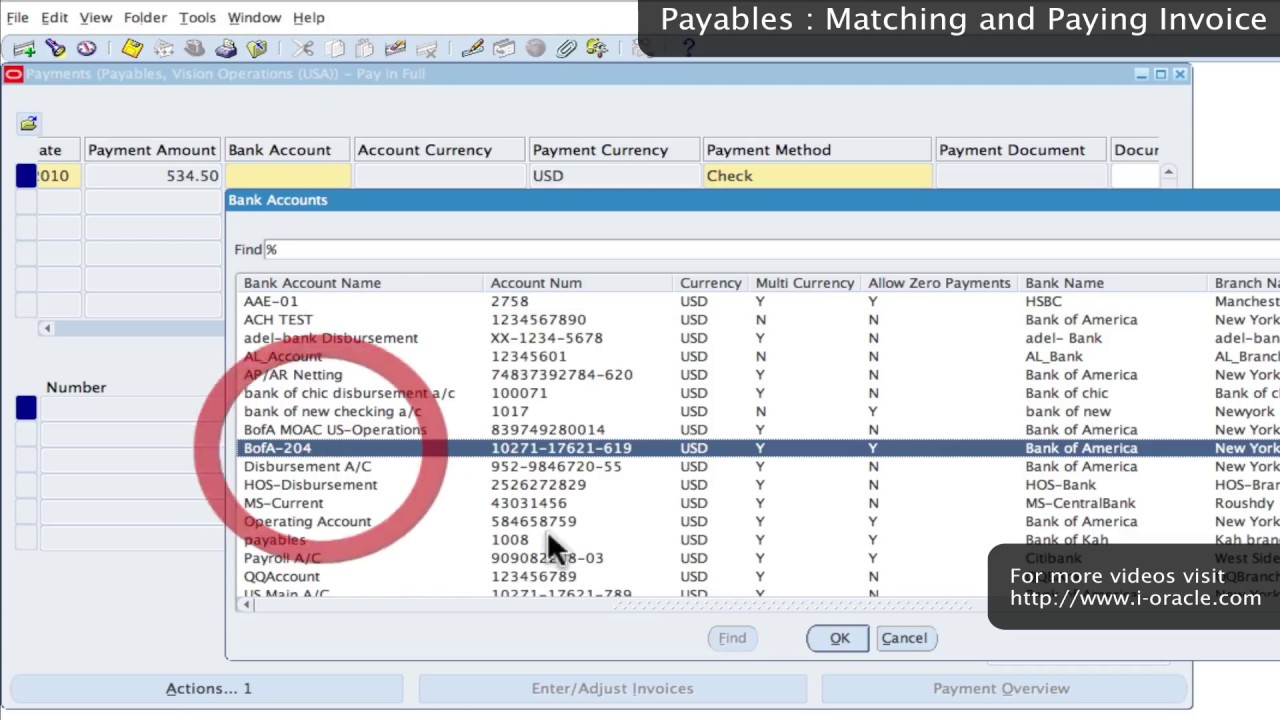 Oracle Training Accounts Payable In Oracle E Business