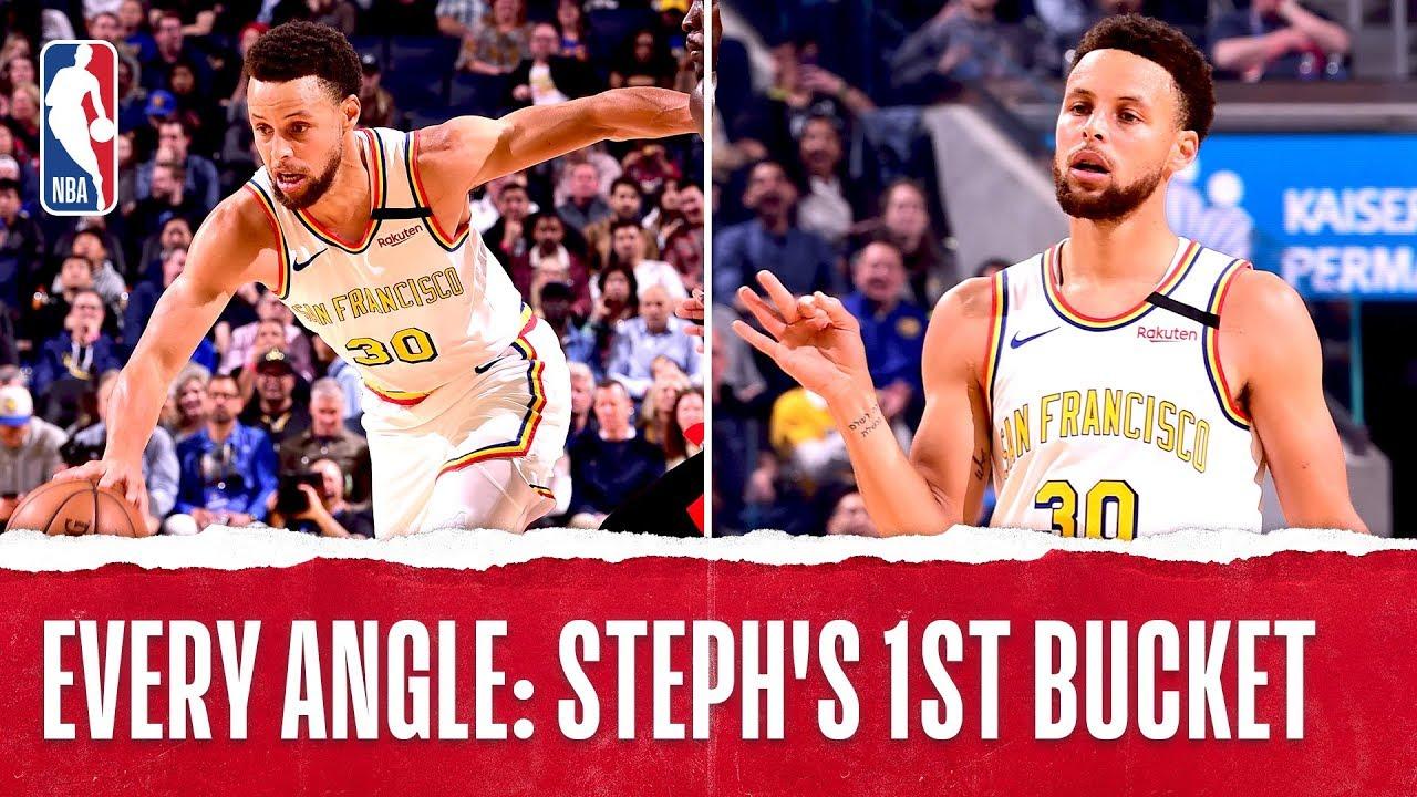 Every Angle: Steph's 1st Bucket Back!