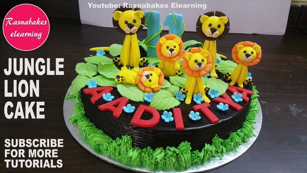 Jungle Cute Animals Lion Chocolate Cake Designzoo Wild Cool Homemade Birthday Video