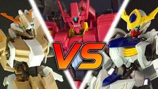 GUNDAM THROWDOWN | 1/144 HG Gundam Rebake Full City VS Gundam Flauros VS Gundam Barbatos Lupus