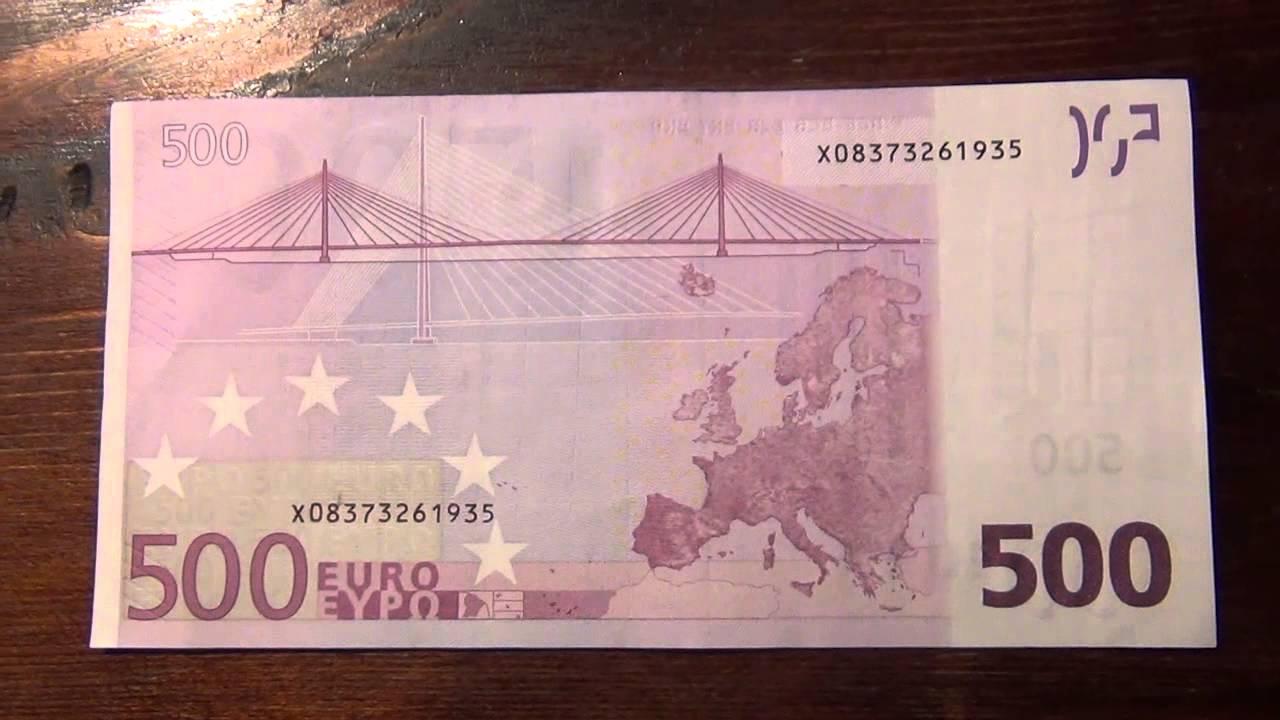 Размер купюры 500 евро аминолаб