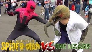 Superior Spider-Man VS The Lizard - Mortal Kombat Styled Fight! (Real Life Superhero Battle)