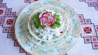 Вкусный салат из редиски,творога и сметаны просто и полезно Салат без майонеза вкусные салаты