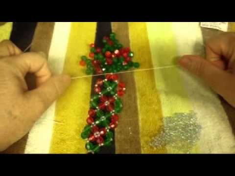Como yo aprendi a hacer una pulsera con cuentas de cristal ojala les  guste03