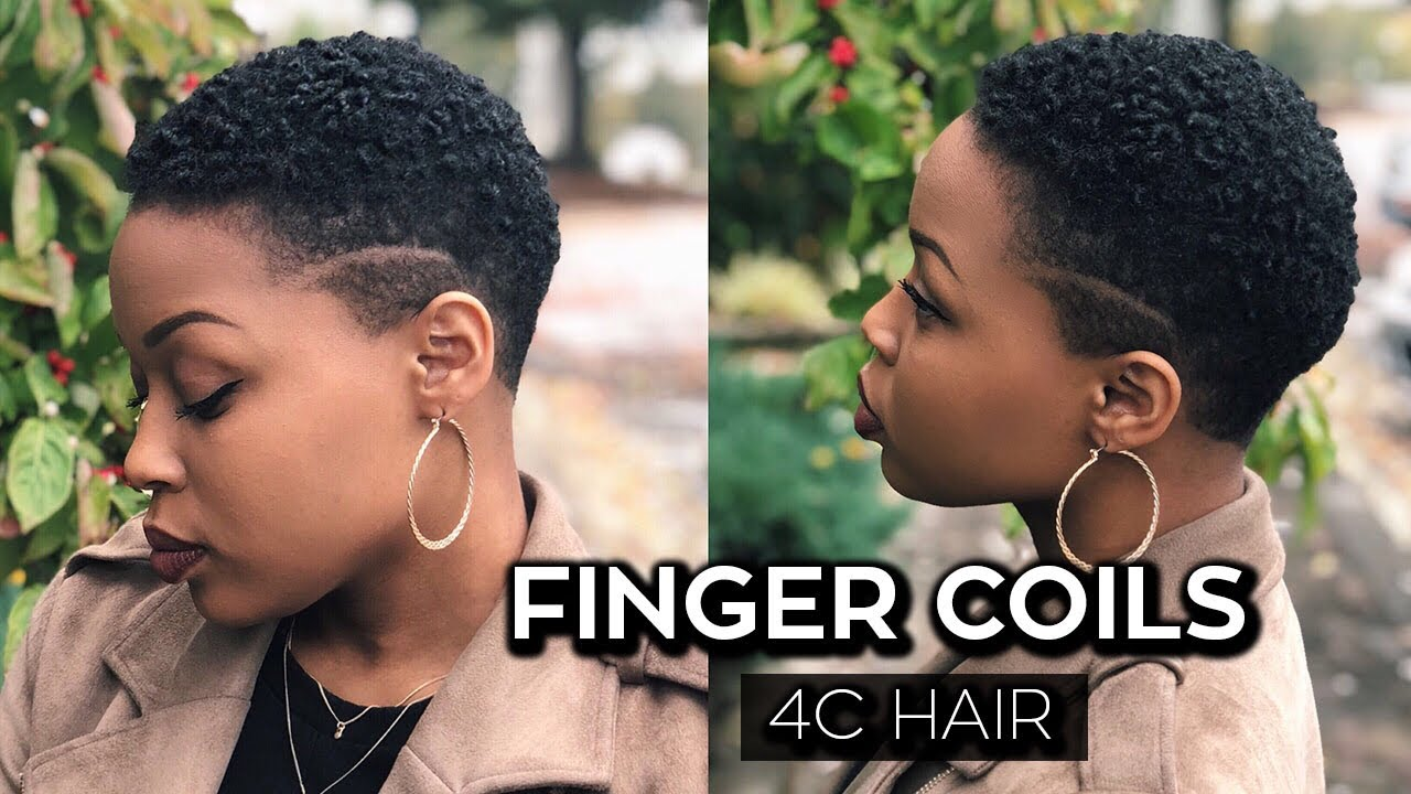 How To Finger Coils On Short 4c Hair Twa Youtube