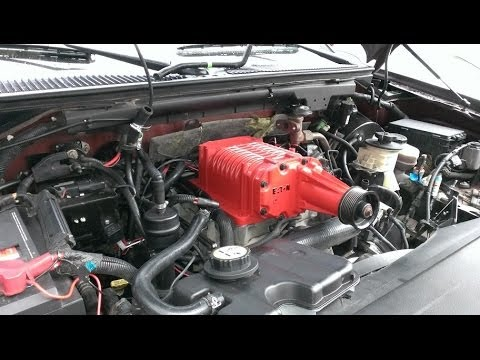 2002 F150 lightning supercharger conversion - YouTube