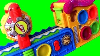 Play Doh Mega Fun Factory Playset With Moving Conveyor Belt Unboxing Review