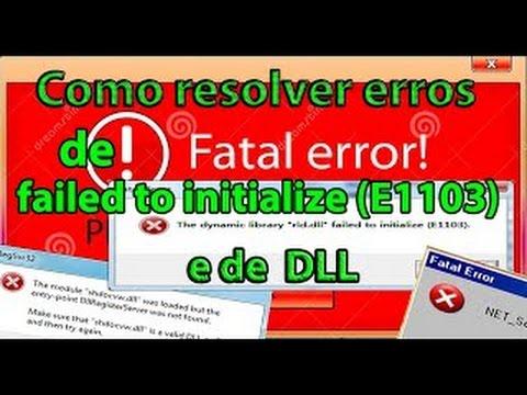 Como resolver erros de DLL e failed to initialize (E1103) The Sims 4