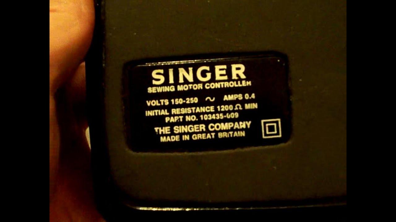 sewing machine foot pedal singer  [ 1280 x 720 Pixel ]