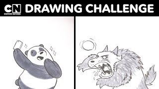 We Bare Bears | Panda Drawing Challenge! | Cartoon Network